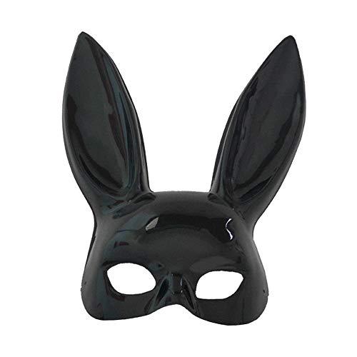 DTOWER Party Halloween Kostüm Latex, Maske Hasenohren für Frauen, Gloss ()