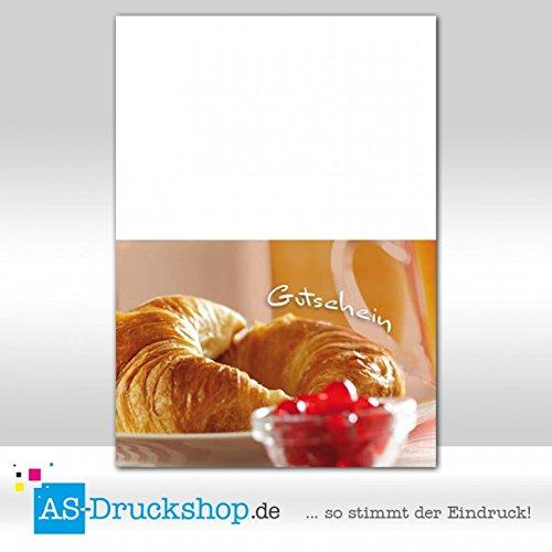 Gutschein Bäckerei Hörnchen / 50 Stück/DIN A6