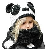 VAMEI Kids Cappello a Maglia con Cappuccio Cappuccio Sciarpa Cappelli  Inverno Caldo Cappelli Animali per Ragazze 2244345ddc45