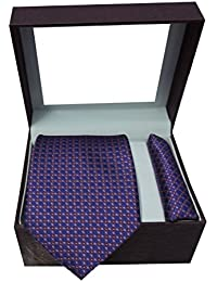 Riyasat - Self Design Micro Fibre Men,s Tie with Pocket Square (S_101)
