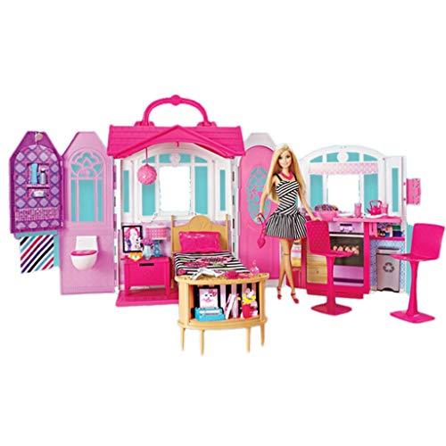 Mode Mädchen Puppe Tragbare Ferienhaus Variety Optional Speicher Puppe Set Princess Castle Spielzeug Mädchen Traum ()