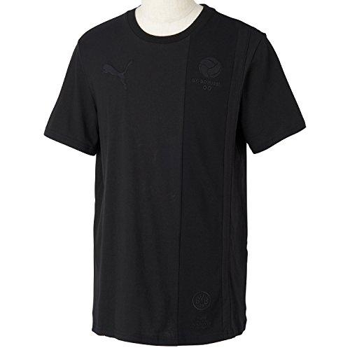 Puma Herren T-Shirt BVB Archives Ringer Tee, Black, XXL -