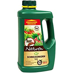 NATUREN–Bio Caracol Grano Forte, Aplicación fertiges Cebo granulado Caracol para Combatir en el Jardín y Invernadero, 950gr. para 300m²