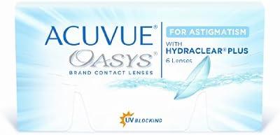 Acuvue Oasys for Astigmatism Lentes de Contacto Tóricas Quincenales, R 8.6, D 14.5, -2.75 Dioptrías, Cilindro -0.75, Eje 120 - 6 Lentillas