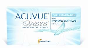 Acuvue Oasys for Astigmatism 2-Wochenlinsen weich, 6 Stück / BC 8.6 mm / DIA 14.5 / CYL -1.75 / Achse 10 / 1.25 Dioptrien