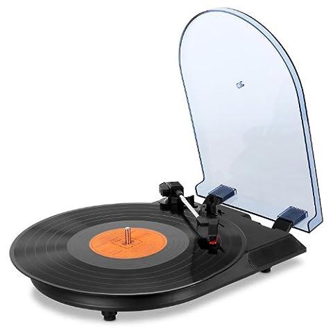 oneConcept TT-USB-2 Schallplattenspieler USB-Plattenspieler zum digitalisieren MP3 Aufnahme (inkl. Software, USB-Slot, Stereo Cinch-Ausgang)