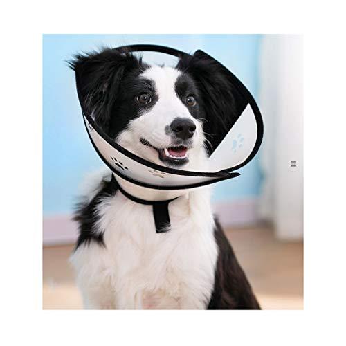 QIQI-PET Weiches Klares Haustier-medizinische Chirurgie-Wiederaufnahme-E-Kragen, Bequemer Elisabethanischer Halskragen, Hundekatze Verwunden Schützender Hauptkegel (größe : M)