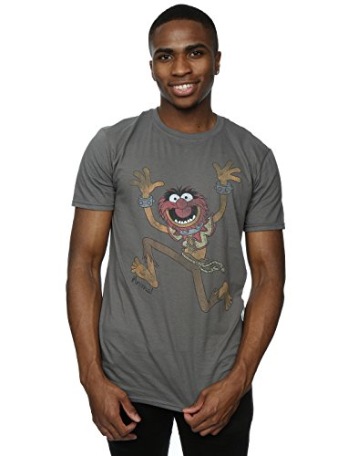 Disney Uomo The Muppets Classic Animal Maglietta X-Large Carbone