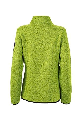 James & Nicholson Damen Jacke Jacke Knitted Fleece Jacket grün (Kiwi-Melange/Royal) Small - 2