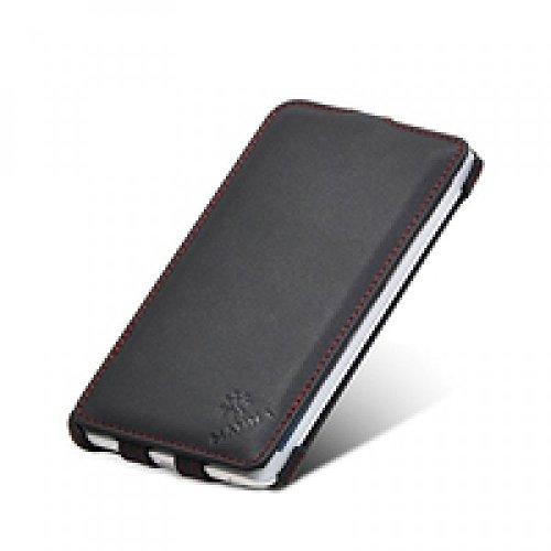 Manna Note4 Edge UltraSlim Hülle   Flip Case   Cover aus Nappaleder