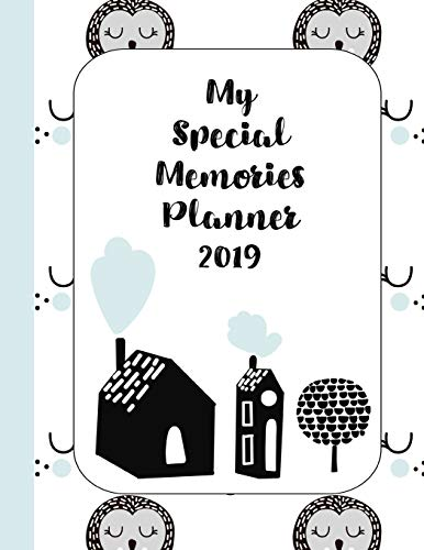 My Special memories planner: The ultimate yearly scrapbook planner for keeping all your child's memories together - Scandinavian owls and trees -