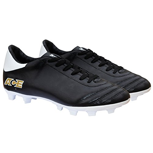 Gowin Unisex Black White Football Shoes - 6