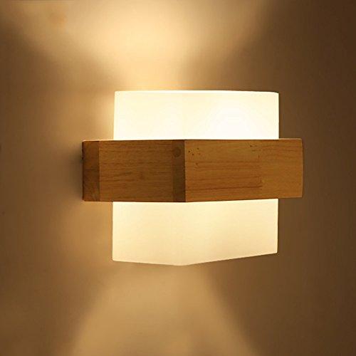 Wall Light Die nordischen creativo di legno da parete applique moderno,  minimalista soggiorno corridoio balcone camera da letto in legno lampade led