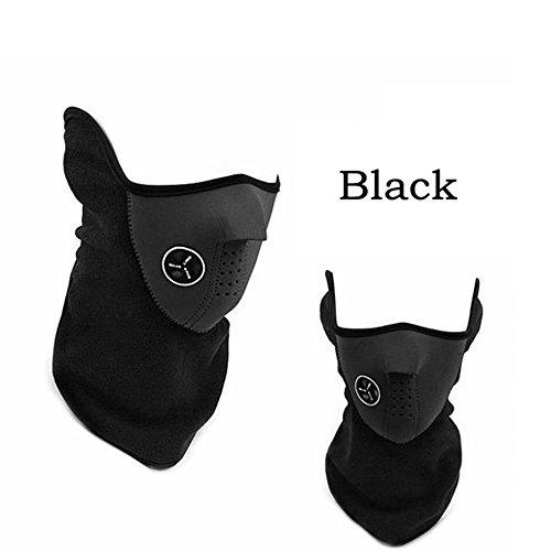 Halbgesicht Maske Hals Schleier-Schutz für Ski Snowboard Fahrrad Motorrad MTB Camping (schwarz) (Hals Schutz)