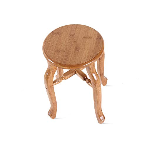YZY Antiker Bambushocker Kleiner Runder Hocker Niedriger Stuhl Kleine Bank Esszimmerstuhl Couchtisch Hocker Makeup Hocker Gemälde Hocker (größe : 26 * 27.5cm)