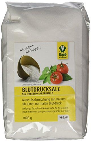 Preisvergleich Produktbild Raab Vitalfood LowNat Blutdruck Salz,  vegan,  Mineralsalzmischung mit Kalium zur Aufrechterhaltung von einem normalen Blutdruck,  1er Pack (1 x 1 kg Beutel)