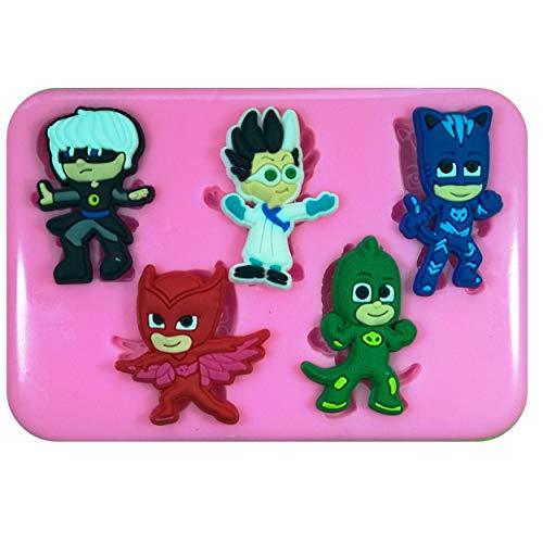 Fairie Blessings PJ Masken Catboy Gekko Owlette Romeo Luna Girl Silikonform für Kuchendekorationen Kuchen Cupcake Toppers Zuckerguss Werkzeug