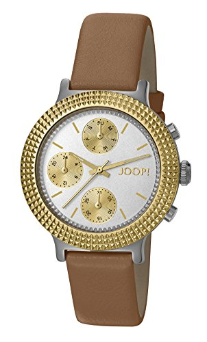 Joop! Damen-Armbanduhr Golden Leather Analog Quarz Leder JP101852002