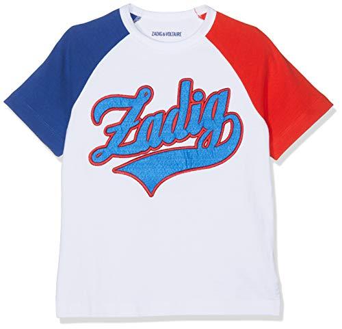 ZADIG&VOLTAIRE Tee-Shirt, Garçon, (Bleu Rouge V79), 10 Ans (Taille Fabricant:10A)