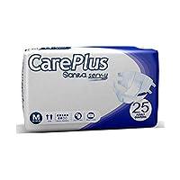 Sanita Careplus incontinence Unisex Adult Diapers, Medium,Waist (65-122 CM)-25 PAD