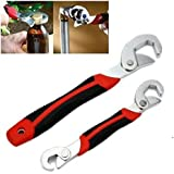 FEDUS Stainless Steel Multipurpose Auto Adjustable Universal Wrench Spanner Set Double Sided Multi-function Quick Hand Tools Snap N Grip