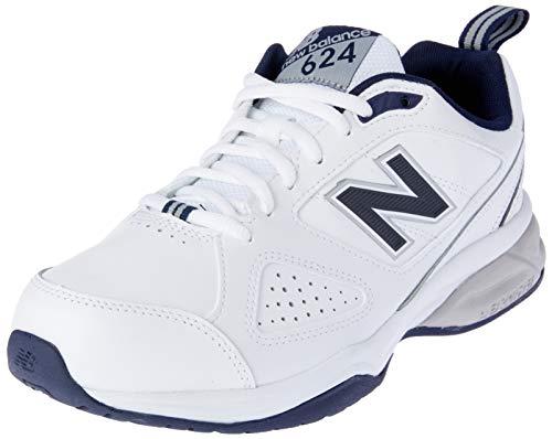 New Balance Herren 624 Hallenschuhe, Weiß (White/Navy Wn4), 43 EU New Navy Schuhe