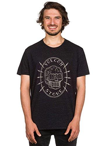 Herren T-Shirt Volcom Cycle Bld T-Shirt Heather Black