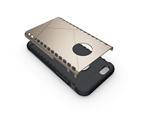 CruzerLite Spartan Dual Protection Hülle für Apple iPhone 6S Plus teal Gold