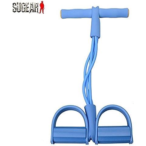 vultera (TM) nuovo aggiornamento Unisex Professionale attrezzature fitness allenamento 4tubi in lattice Pedalatore Forza Formazione bande di resistenza *