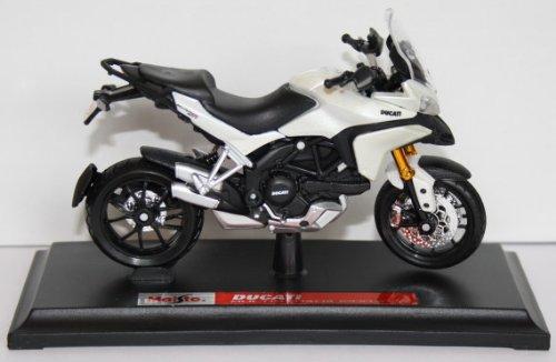 Ducati Motorrad Spielzeug (Motorrad Modell Ducati Multistrada 1200 S weiss - Maisto 1:18)