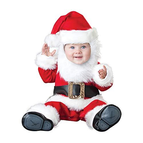 (Dreamworldeu Baby Weihnachten Kostüm Set Weihnachtsmannkostüm Outfit für Baby Kleinkind Jungen Mädchen)