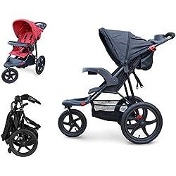 PAPILIOSHOP REBEL Poussette pour bébé enfant avec 3 grandes roues (Gris)