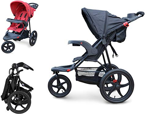 PAPILIOSHOP REBEL Dreirad buggy kinderwagen jogger mountain (Grau)