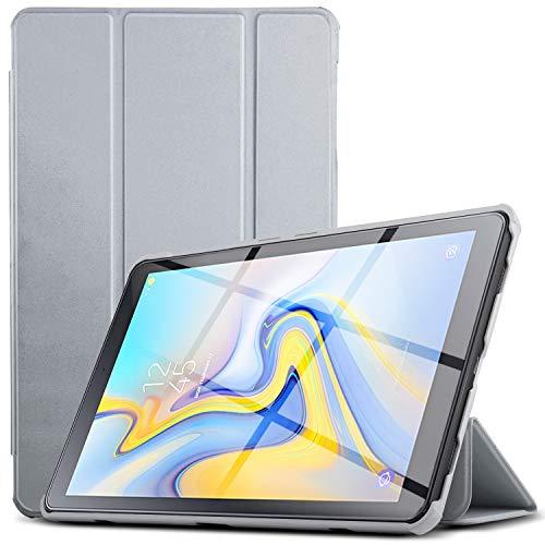 IVSO Hülle für Samsung Galaxy Tab A 10.5 SM-T590/T595, Slim Schutzhülle mit Auto Aufwachen/Schlaf Funktion Perfekt Geeignet für Samsung Galaxy Tab A SM-T590/SM-T595 10.5 Zoll 2018, HJ-Grau