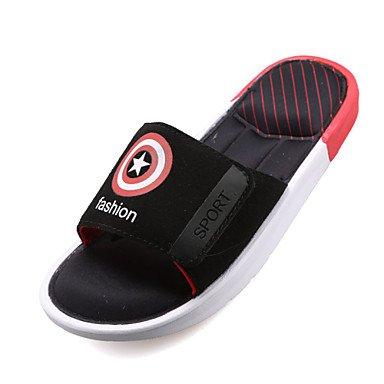 Sandales d'été chaussures d'hommes Casual Suede Chaussons Noir / Bleu / Vert / Rouge Red