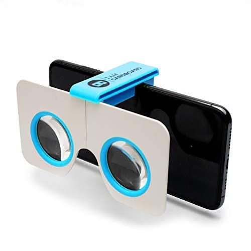 I AM Cardboard Visore VR smartphone Pocket 360 Mini   I Migliori Dispositivi Realtà Virtuale Ispirati al Cardboard Google V2   VR Headsets  Accessori Cellulare per Regali Originali (Blue)