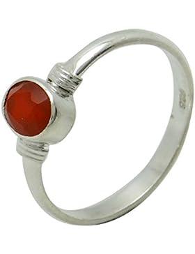 oval Karneol Edelstein-Ring 925 Sterling Silber indischen Modeschmuck Geschenk für Frauen