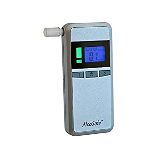 AlcoSafe S2 Alkoholtester Promilletester Digital LCD Alkomat Alkohol Test Mundstücke TOP