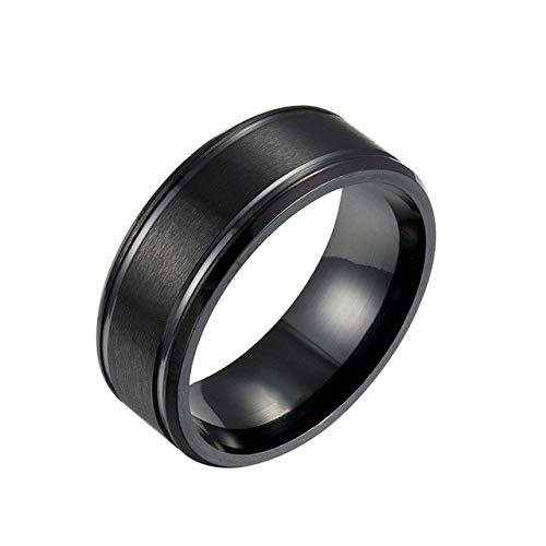 GMZWW Marke 8mm Einfache Ring Mode Gold Ring Männer Frauen Exklusive Paar Ehering Frauen Schmuck Geschenk 13 Schwarz