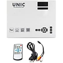 Mengonee Unic UC40 + Mini Pico proyector portátil 3D HDMI de cine en casa Beamer Proyector Multimedia Full HD 1080P