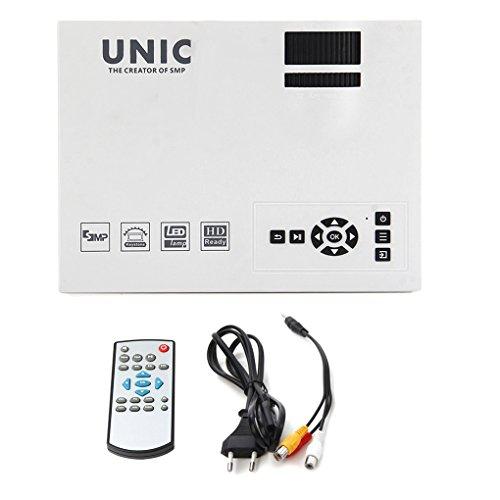 Morza Unic UC40 + Mini Pico Tragbare 3D-Projektor HDMI Heimkino Beamer Multimedia Proyector Full HD 1080P Video - Multimedia-projektor Tragbar