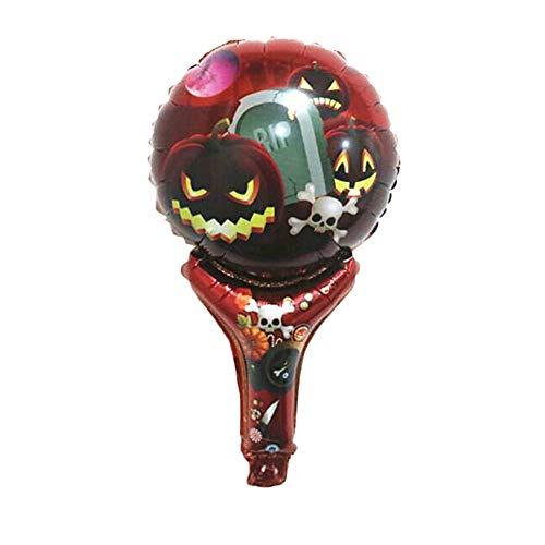 Nowbetter Halloween Aluminium Folie Ballons Creative Dekorationen Supplies für Halloween Masquerade Party für Kinder Jungen Mädchen 5Stück, Rot, 30 * 50cm