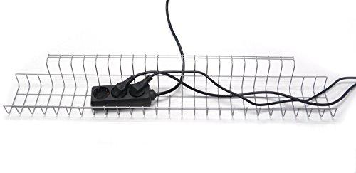 ERGO Base Cable Cesta/rejilla Cable Cesta 790para escritorios, aprox. 790X 210X 90mm, Plata