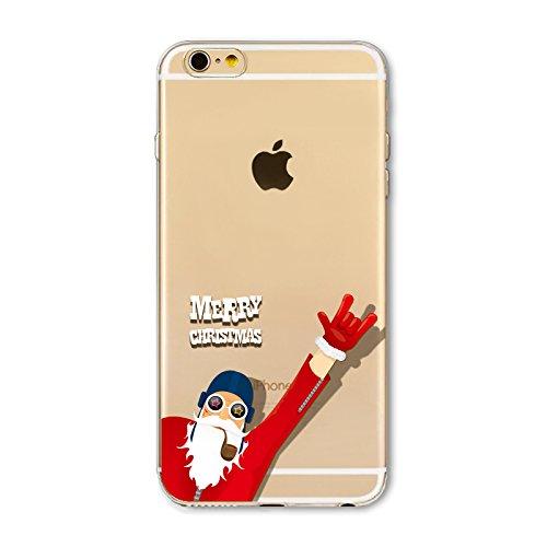 Weihnachten Hülle für iPhone SE 5SE 5 5S MOONMINI Ultra Dünn Weihnachten Dekoration Weiche TPU Silikon Full Body Schutz Rückseite Transparent Schutzhülle Shell für iPhone SE 5SE 5 5S Snowman and Pengu Rock Man