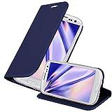 Cadorabo Custodia Libro per Samsung Galaxy S3 / S3 Neo in Classy Blu Scuro - con Vani di Carte, Funzione Stand e Chiusura Magnetica - Portafoglio Cover Case Wallet Book Etui Protezione