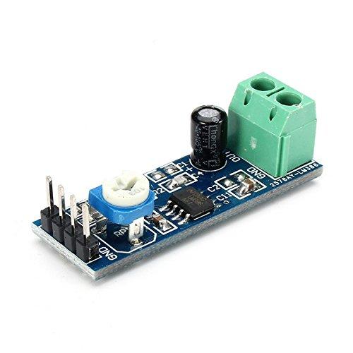 LaDicha Module d'amplificateur LM386 20 Fois Gain avec résistance réglable