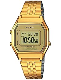 Casio Collection Damenuhr Digital mit Edelstahlarmband – LA680WEGA-9ER