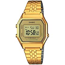Casio Collection Reloj Digital para Mujer con Correa de Acero Inoxidable – LA680WEGA-9ER