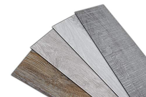 HOME DELUXE Vinylboden - 1m² - selbstklebend - verschiedene Farben - V8 Eiche Grau