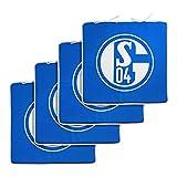 FC Schalke 04 Sitzkissen 4er Set Blau